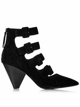 ash-dolby-suede-cone-heel-buckle-shoes-black