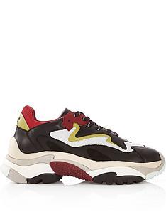 ash-addict-leather-amp-mesh-chunky-sole-trainers--nbspredblackwhite