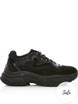 ash-addict-leather-amp-mesh-chunky-sole-trainersnbsp--black