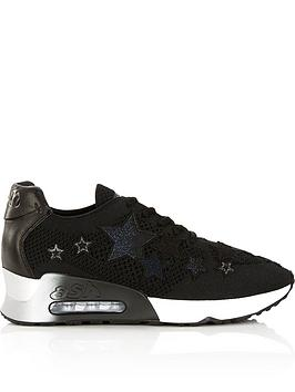 ash-lucky-star-knit-trainers-black