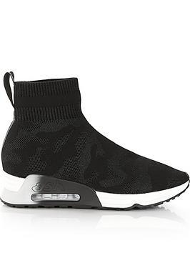 ash-lulu-camo-knit-trainers-black