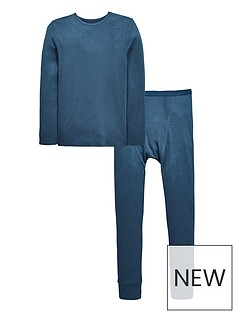 mini-v-by-very-ribbed-thermal-tong-sleeve-top-and-bottoms-set