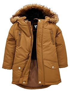 mini-v-by-very-toddler-boys-parker-coat-with-faux-fur-trim-hood-brown