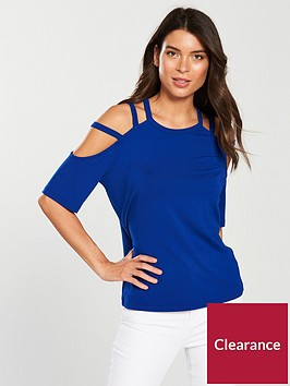 v-by-very-cut-out-strap-t-shirt-electric-blue