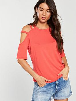 v-by-very-cut-out-strap-t-shirt-coral
