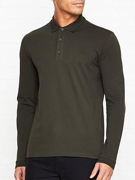 hugo-donol-pique-long-sleevenbsptippednbsppolo-shirt-olive