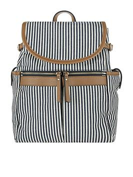 accessorize-marley-stripe-backpack-navy