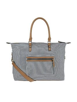 accessorize-marley-stripe-weekender-bag