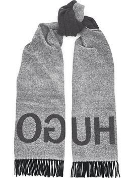 hugo-mens-reversible-logo-scarf-grey