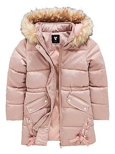 v-by-very-girls-long-line-pink-ribbon-coat