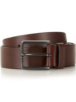 hugo-mens-gionio-leather-beltnbsp--brown