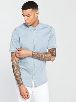 river-island-muscle-fit-denim-shirt