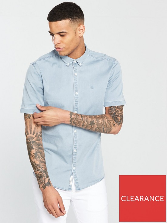 4644f950d River Island Muscle Fit Denim Shirt | very.co.uk