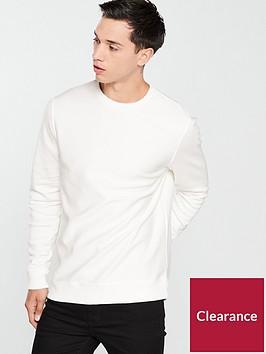 river-island-white-twill-crew-neck-sweatshirt