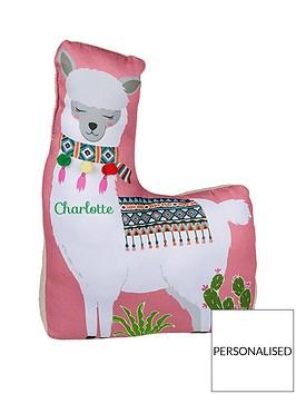 personalised-llama-doorstop-pinkgreen