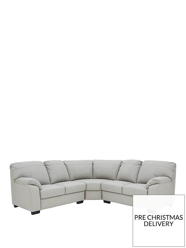Merkle Leather/Faux Leather Corner Group Sofa