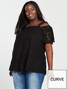 v-by-very-curve-cold-shoulder-bardot-lace-top-black