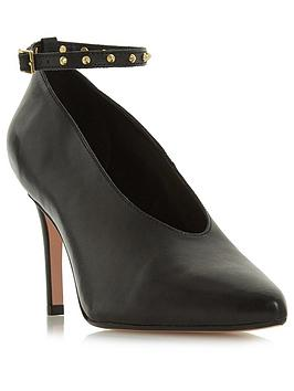 Dune London Ara High Cut Court With Studs - Black