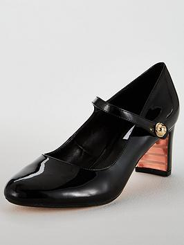 Dune London Antoinette New Block Mary J Court Shoe - Black