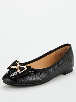 Head Over Heels Haze Ballerina Shoes - Black