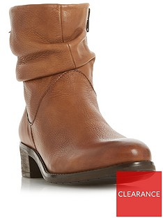 fff6c19c39 Dune London Pagerss Ruched Ankle Boot - Chestnut