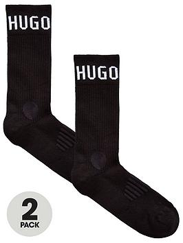 boss-bodywear-2-pack-logo-sport-socks-black