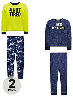 v-by-very-boys-pack-of-2-i-need-space-not-tired-pyjama-set-multi