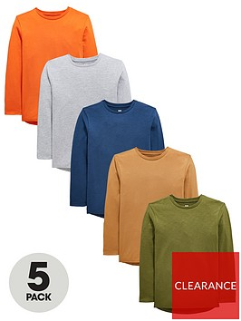 v-by-very-boys-5-pack-long-sleeved-t-shirts-multi