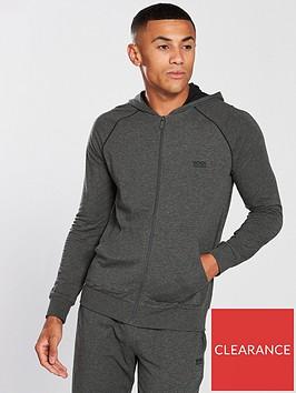 boss-bodywear-lightweight-zip-through-lounge-top-charcoal