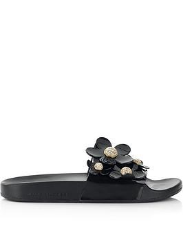 marc-jacobs-daisy-pave-aqua-sliders-black