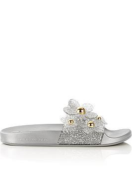 marc-jacobs-daisy-aqua-sliders-silver