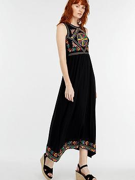 monsoon-maylin-embroidered-midi-dress-black
