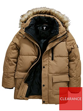 v-by-very-boys-mock-2-in-1-jacket-with-faux-fur-hood-tan