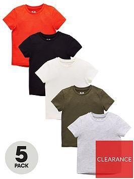 mini-v-by-very-boys-pack-of-5-short-sleeve-marl-t-shirts-multi