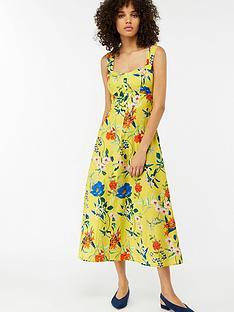 monsoon-flora-print-sundress-yellow
