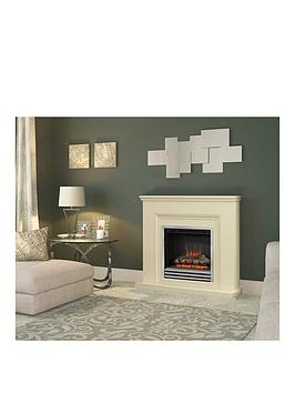 be-modern-stanton-electric-fire-suite-in-almond-stone-with-3-bar-chrome-fret