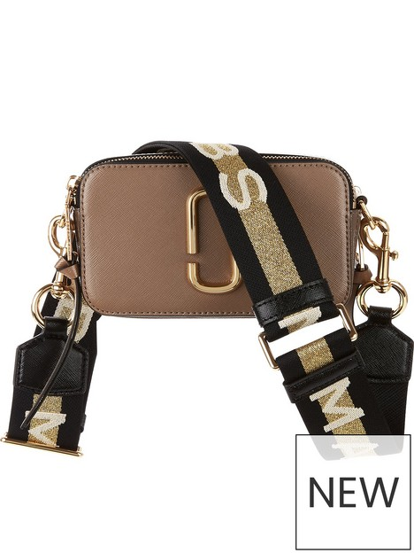 marc-jacobs-snapshot-striped-cross-body-bag--nbsptan