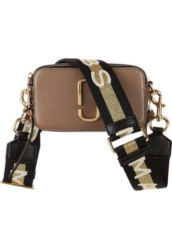 73b5a9886 MARC JACOBS Snapshot Striped Cross-Body Bag - Tan | very.co.uk