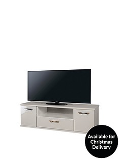 SWIFT Neptune Ready Assembled Grey High Gloss TV Unit - fits up to 65 inch TV (10 Day Delivery Service)