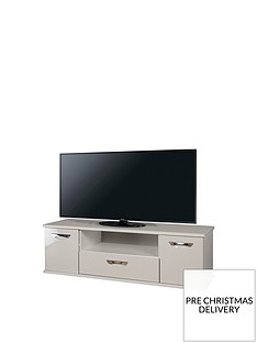 SWIFT Neptune Ready Assembled Grey High Gloss TV Unit - fits up to 65 inch TV