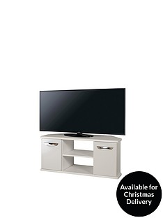 SWIFT Neptune Ready Assembled Grey High Gloss Corner TV Unit - fits up to 46 inch TV (10 Day Delivery Service)