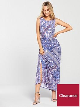 wallis-tile-maxi-dress-print