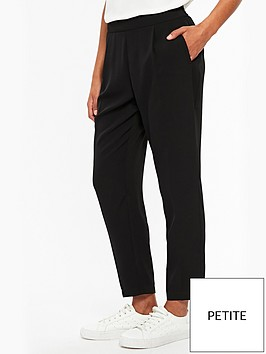 wallis-petite-henna-pull-on-trouser-black