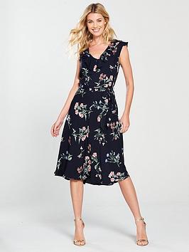 wallis-ditzy-floral-midi-dress-navy