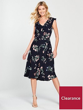 wallis-ditzy-floral-midi-dress-navy