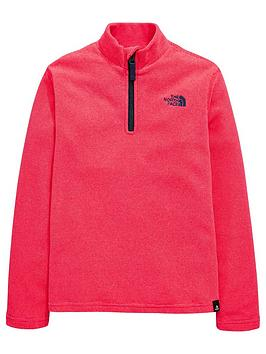 the-north-face-girls-glacier-14-zip-fleece