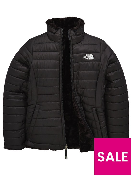 c63e2a4bb THE NORTH FACE Girls Reversible Mossbud Swirl Jacket