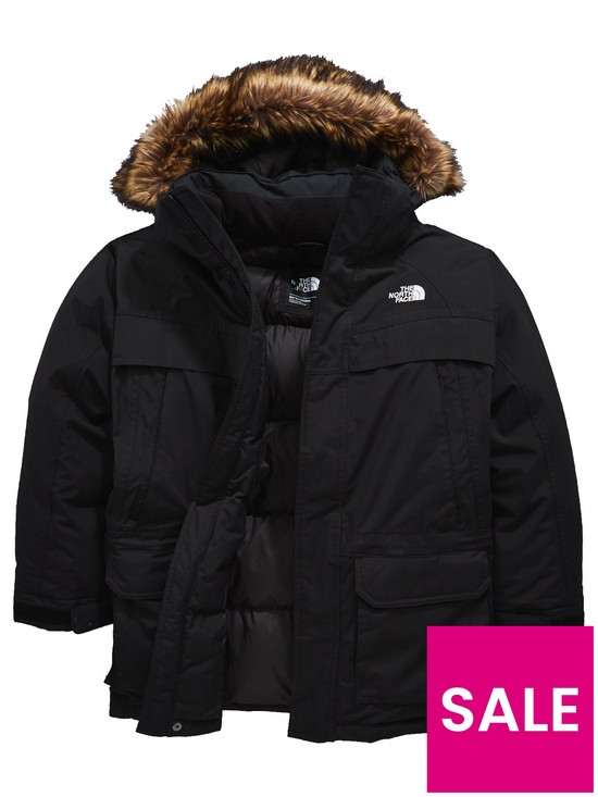 9aa3cc93c THE NORTH FACE The North Face Boys Mcmurdo Down Parka Jacket - Black ...