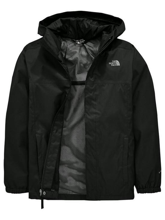 81f59dfbcb25 THE NORTH FACE The North Face Boys Resolve Hooded Jacket - Black ...