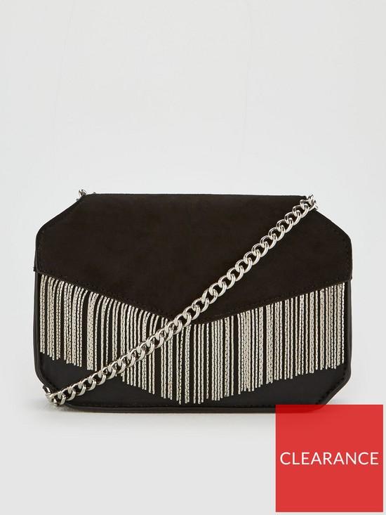 0fe7eb079d V by Very Perrie Chain Trim Boxy Bag - Black